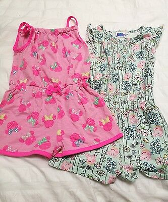 2 girls playsuits age 4-5 years