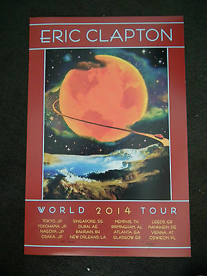 Eric Clapton 2014 Tour Poster By David Singer