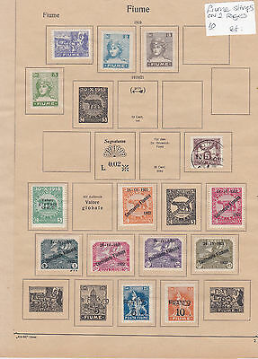 Fiume Stamps on 2 Pages Ref: R6868