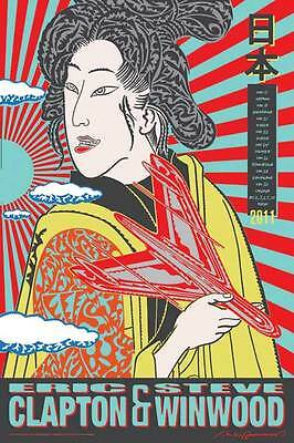 ERIC CLAPTON / STEVE WINWOOD 2011 JAPAN TOUR POSTER Limited edition of 250 only