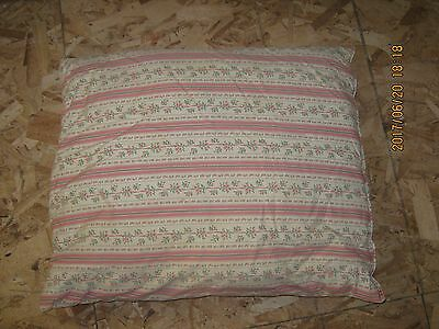 VINTAGE feather pillow PINK STRIPE FLOWERS