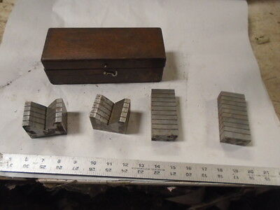MACHINIST LATHE MILL Machinist Set of George Scherr Magnetic Transfer Blocks V