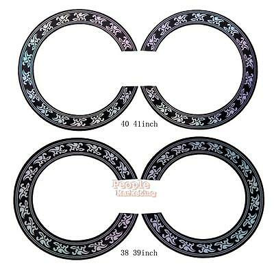 1pcs Acoustic Guitar Circle Decal Accessory Soundhole Rosette Body Project Inlay