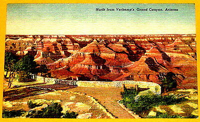 View of Grand Canyon from Verkamp's Visitor Centre Grand Canyon Postcard c