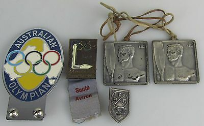 1952 Olympic Helsinki Games Badges & Regatta Medals & Badge