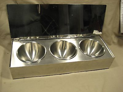 Stainless steel Condiment Tray Commercial Quality 3 removable compartments with