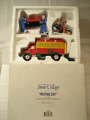 Department 56 Snow MOVING DAY  54892  3 piece set