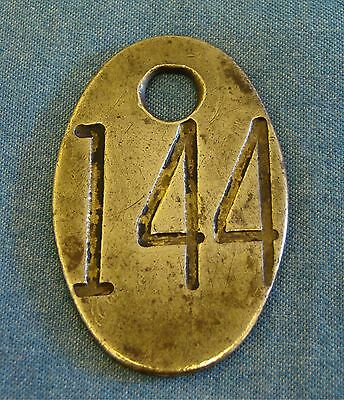 Vintage Brass Cow Tag double-sided #144