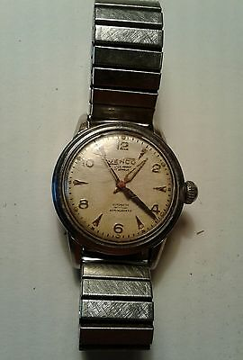 Vintage Watch Jenco Automatic For Parts Or Repairs Runs But Needs Work 17 Jewels
