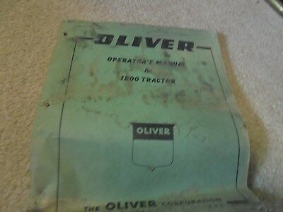 Vintage Oliver 1800 Tractor Operator's Manual