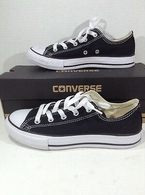 CONVERSE Youth CT All Star Ox Black Canvas Casual Athletic Shoes Size 3 Y ZJ-215
