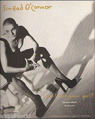 Sinead O'Connor 1992 Am I Not Your Girl? ad 8 x 11 advertisement