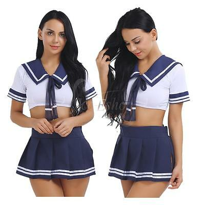 Cosplay Women School Girl Students Sailor Uniform Sexy Anime Costume Sailor Suit