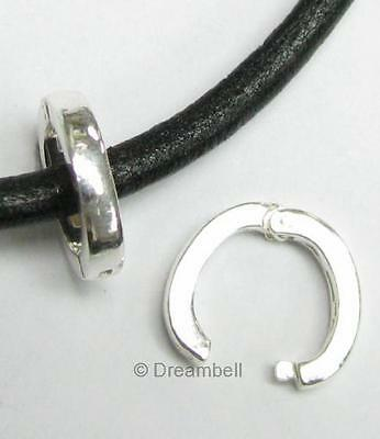 1 X Bright Sterling Silver Oval Changeable Pendant Clasp Bail SB273W-12M