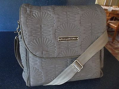Petunia Pickle Bottom Boxy Backpack Baby Diaper Bag Gray Champs-Elysees