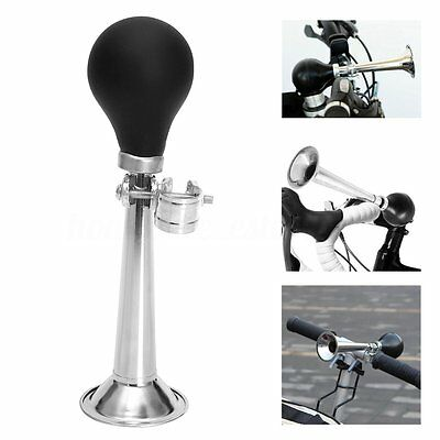 Bicycle Bike Retro Metal Air Horn Hooter Bell Bugle Rubber Squeeze Bulb Vintage