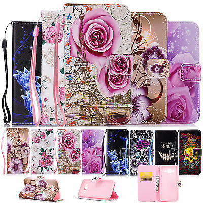 Flip Leather Phone Wallet Soft Silicone Case Cover for Samsung Galaxy J5 2015