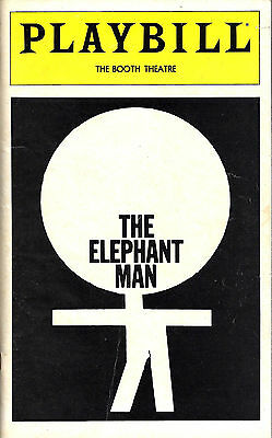 "David Bowie (Debut) ""THE ELEPHANT MAN"" Donal Donnelly 1980 Broadway Playbill"