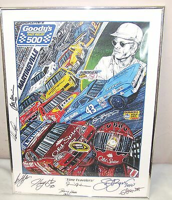 2010 Goody's 500 Framed Racing Poster--Martinsville, Va.--8 Signitures