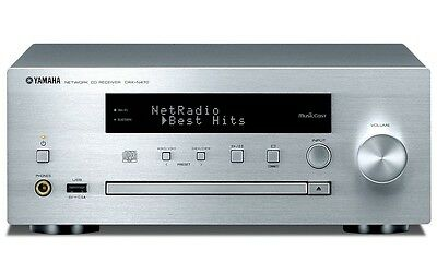 Yamaha CRX-N470 3D MusicCast CD Receiver with Bluetooth and WiFi (Silver)