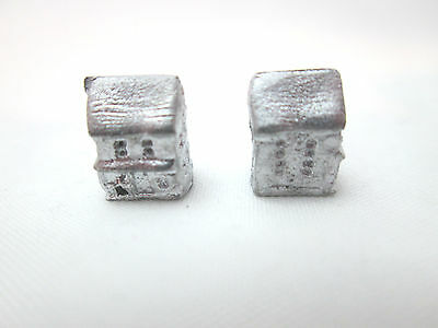 2 Dollhouse Miniature Unfinished Metal Toy 2-Story House