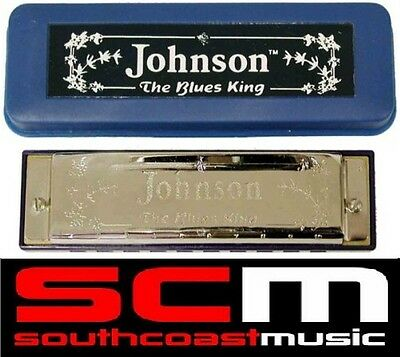 SaLE* BRAND NEW KEY OF C HARMONICA HARP IN CARRY CASE! JOHNSON BLUES KING
