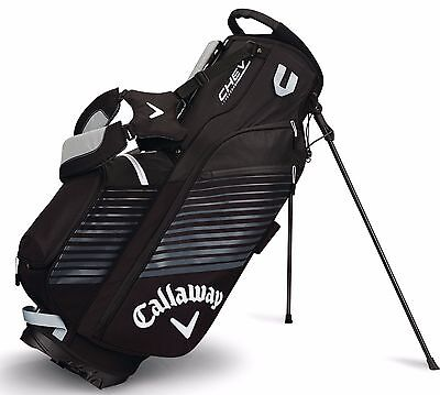 Brand New 2017 Callaway Golf Chev Stand / Carry Bag - Black / Silver / White