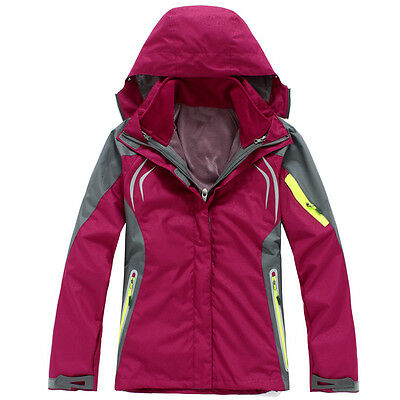 Women Lady Dark Pink Ski Snow Snowboard Winter Waterproof Jacket 6 8 10 12 14