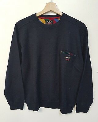 Paul & Shark  Maglione Uomo Vintage Anni 90 Paul & Shark Sweater Rare Vintage 90