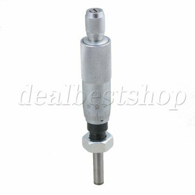 Flat Type Micrometer Head Machinist Precise Measuring Tool 0-25mm Range With Nut