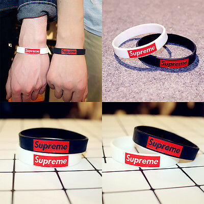 cute lovely wrist band 2pcs Men Fashion silicone wristband bracelet casual funky