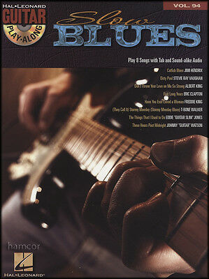 Slow Blues Guitar Play-Along TAB Music Book & Backing Tracks CD