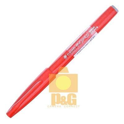 Pentel Pentel Fude Touch Brush Sign Pen SES15C Calligraphy Sketching Art / RED