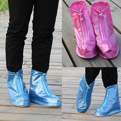 Unisex Waterproof Protector Shoes Boot Cover Rain Shoe Covers High-Top Anti-Slip