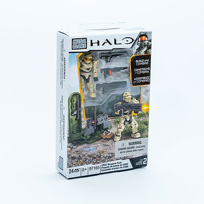 Mega Bloks 97165 Halo Build and Combine UNSC Weapons Pack 24 Teile NEU / OVP