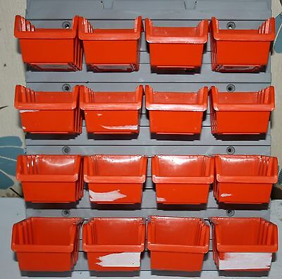 PROSPERPLAST NP4 WALL MOUNTED STORAGE PLASTIC small BINS (16) 39x35cms
