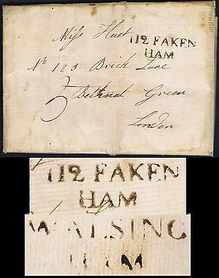 Norfolk PH 1790 Fine 112 Fakenham and Walsingham to London with contents