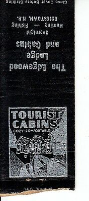 The Edgewood Lodge Cabins Boiestown New Brunswick NB Canada Old Matchcover