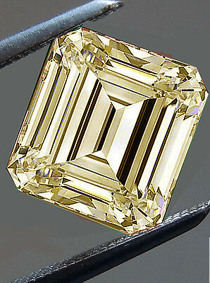 1.56 ct VS1/WHITE BROWN YELLOW COLOR LOOSE EMERALD SQUARE REAL MOISSANITE 4 RING