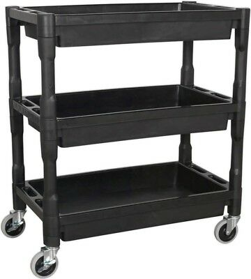 Sealey 3-Level Workshop Trolley Composite Heavy-Duty Resistant - 60KG Capacity