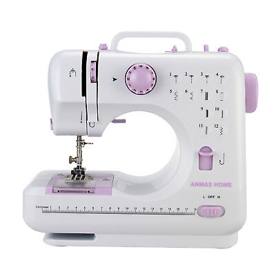 Portable Household DIY Mini 12 Stitches Electronic Overlock Sewing Machine Pink