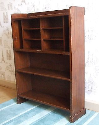 antique small solid oak bookcase