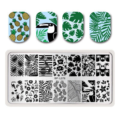 Nail Stamping Plate Fruit Leaf  Nail Art Rectangle Born Pretty Template BP-L076