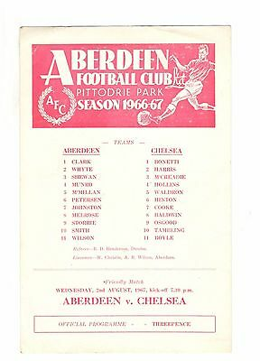 Aberdeen v Chelsea 1967 - 1968  friendly