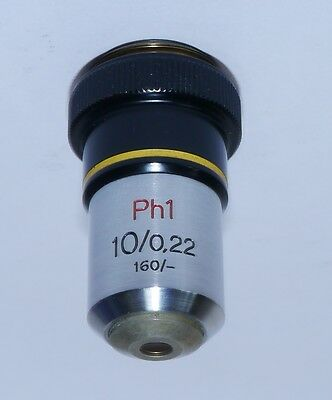 Zeiss Phase Microscope Objective Ph1 10 /0.22 160/-  - Very Good