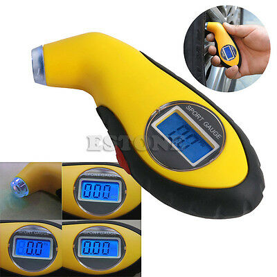 Digital LCD Tire Tyre Air Pressure Gauge Tester Tool For Auto Motorcycle
