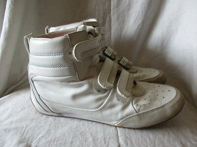 Lacoste white hi top trainers  size 7