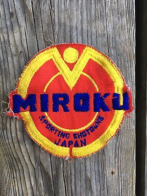 MIROKU JAPAN hunting gun patch 1970s