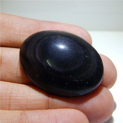 60 cts 100%Natural Mexican Rainbow Obsidian Gemstones Loose Cabochon N#175-47