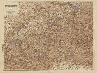 Switzerland & the Alps. Haute Savoie. Italian Lakes. Aosta. STANFORD 1896 map